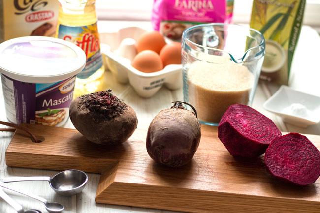 cocoa beet cupcakes ingredients