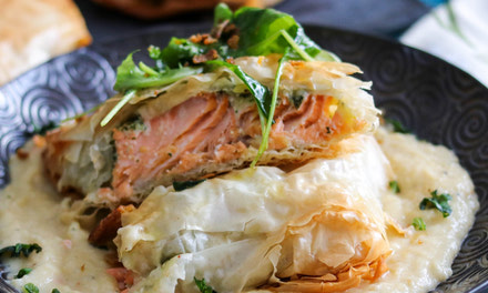 {Arctic Char in Filo Pastry}