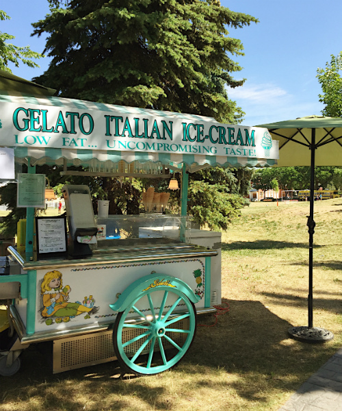 Gelato Cart at Kick it Up Festival