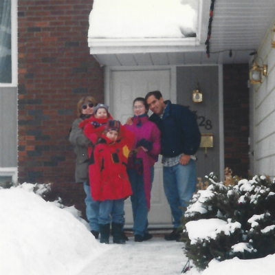Outside family home 1996
